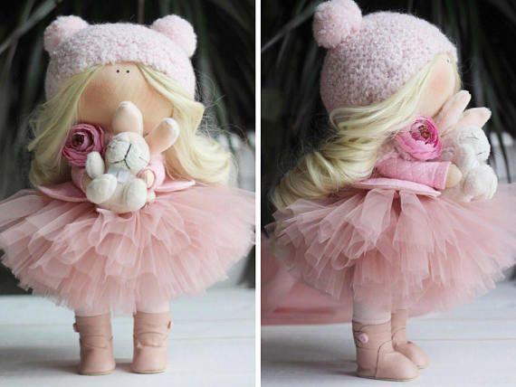 Handmade doll Rag doll Bambole Interior doll by AnnKirillartPlace