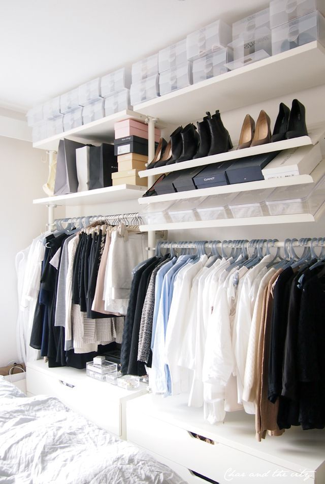 25 best ideas about open closets on pinterest open wardrobe wardrobe ideas and clothes storage. Black Bedroom Furniture Sets. Home Design Ideas