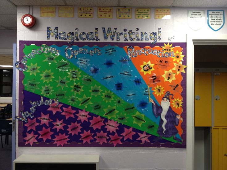 Magical writing VCOP classroom display