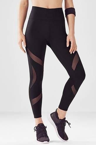 6f325117e36b47 High-Waisted Mesh PowerHold® 7/8 in 2019   workout   Mesh leggings, Yoga  fashion, Fall leggings