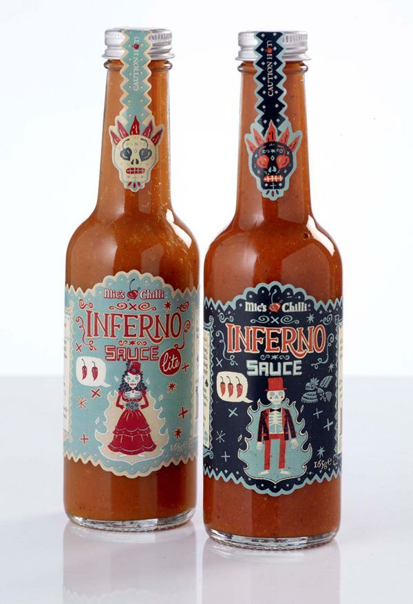 Inferno sauce: Steve Simpsons, Package Design, Bottle Packaging, Packaging Design, Inferno Sauces, Design Packaging, Creative Packaging, Hot Sauces, Labels Design