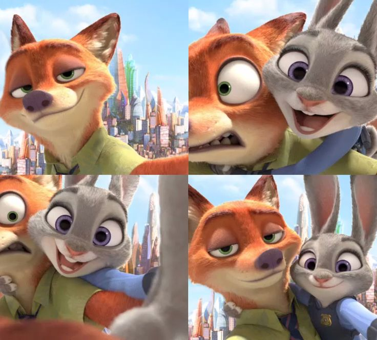 "Nick Wilde and Judy Hopps selfies ""Zootopia"" - Go see it! READ: http://grown-up-disney-kid.tumblr.com/post/140429347699/zootopia-totally-worth-the-wait"