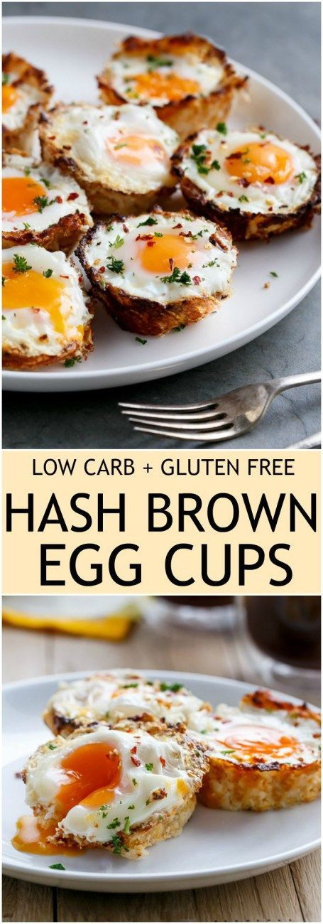 Hash Brown Egg Cups - Low carb, gluten free hash browns nests filled with eggs. A great way to start your day!