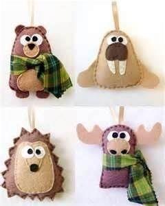 felt bear craft | ... felt crafts - bear, walrus, hedgehog, moose ... | Craft Ide