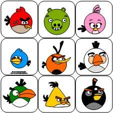 Memory/Concentration game for Angry Birds fans.  For kids that are obsessed with Angry Birds just looking at the cards can be a reinforcer.