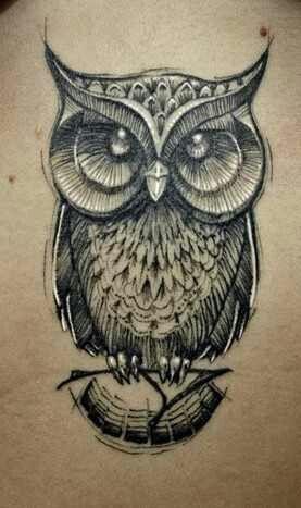 httptattoomagzcomowl tattoosawesome black awesome black white
