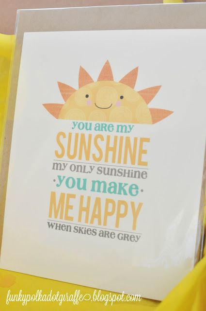 17+ images about you are my sunshine on Pinterest  Nursery art, Happy and Th # Sunshower Poem_110310