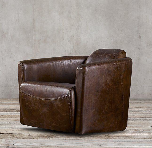 Rocket Leather Swivel Chair