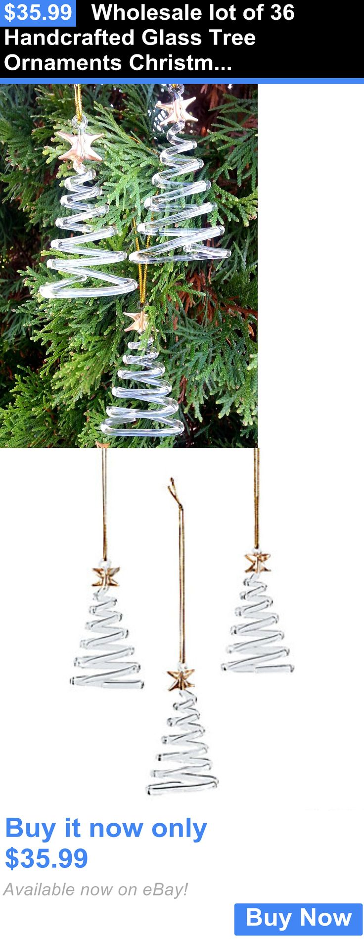 Christmas Decorations: Wholesale Lot Of 36 Handcrafted Glass Tree Ornaments Christmas Party Supplies BUY IT NOW ONLY: $35.99