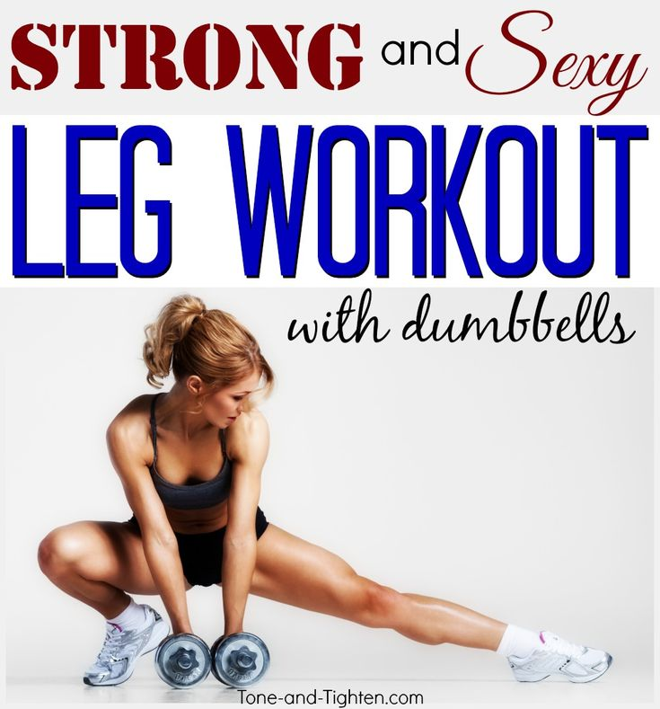 At-home leg workout with dumbbells from Tone-and-Tighten.com