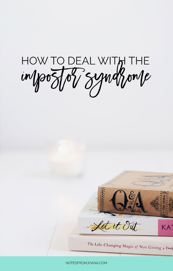 How To Deal With The Impostor Syndrome   4 ways to help you deal with the feeling of not being good enough and feeling like a fraud. Click through to read it
