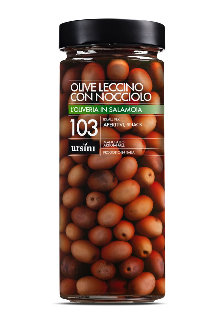 Leccino Olives with stone #Ursini, #oil