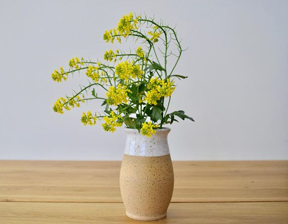 FARMHOUSE Collection: Vase or carafe. Brown speckled clay with