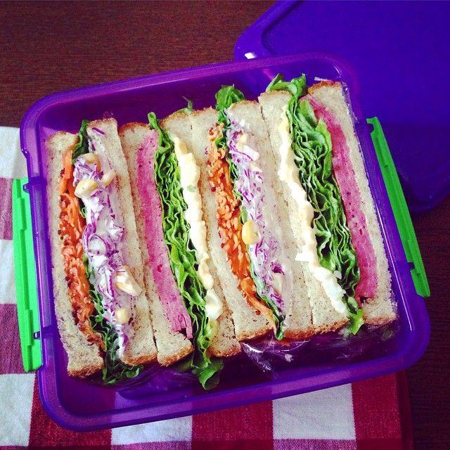 #システマ のランチプラス、8枚切りの食パンで作った #サンドイッチ なら4切れ入ります。明日3/13は、サンドイ�... - プラザ/PLAZA (@plazastyle)