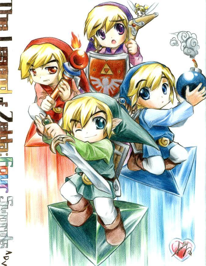 The Legend Of Zelda Chibi Uso de cookies Zelda art