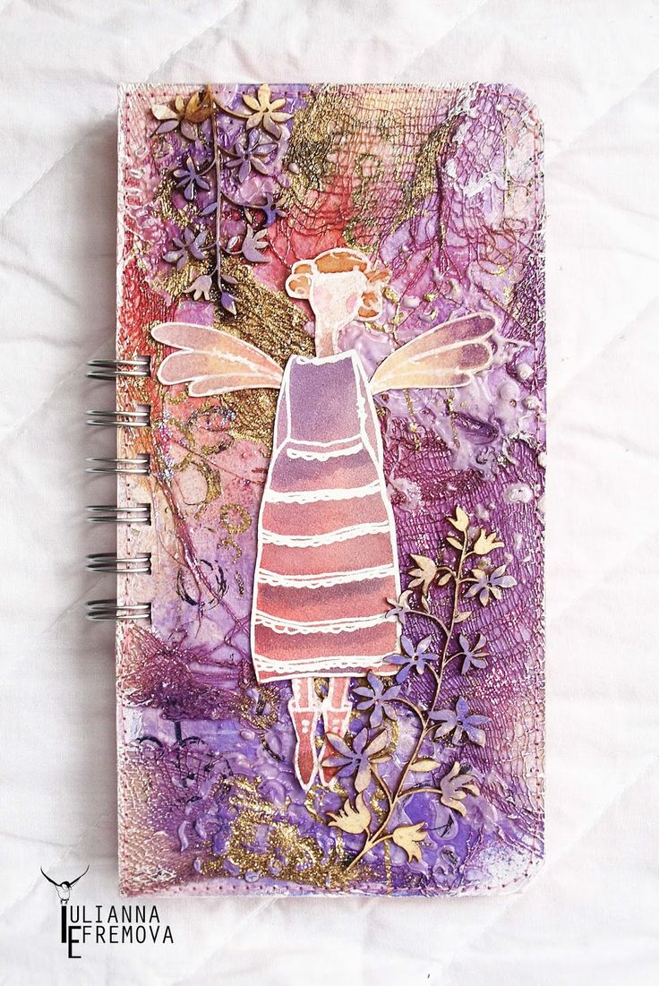 "Handmade by Yulianna: Notepad ""Lady"""