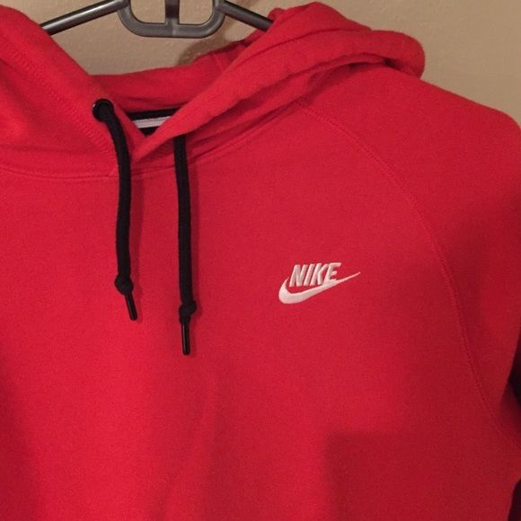 Red Nike Sweatshirt Great condition! Men's Small fits like a Women's medium will trade for another nike jacket or patagonia Nike Tops Sweatshirts & Hoodies