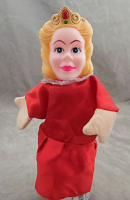 British Hand Finger Puppet QUEEN with Rubber Head Priness Royalty