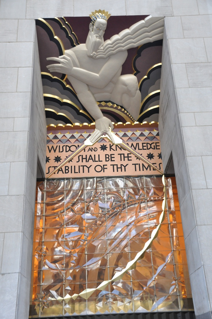 Some of the Rockefeller Center's Art Deco magnificence.