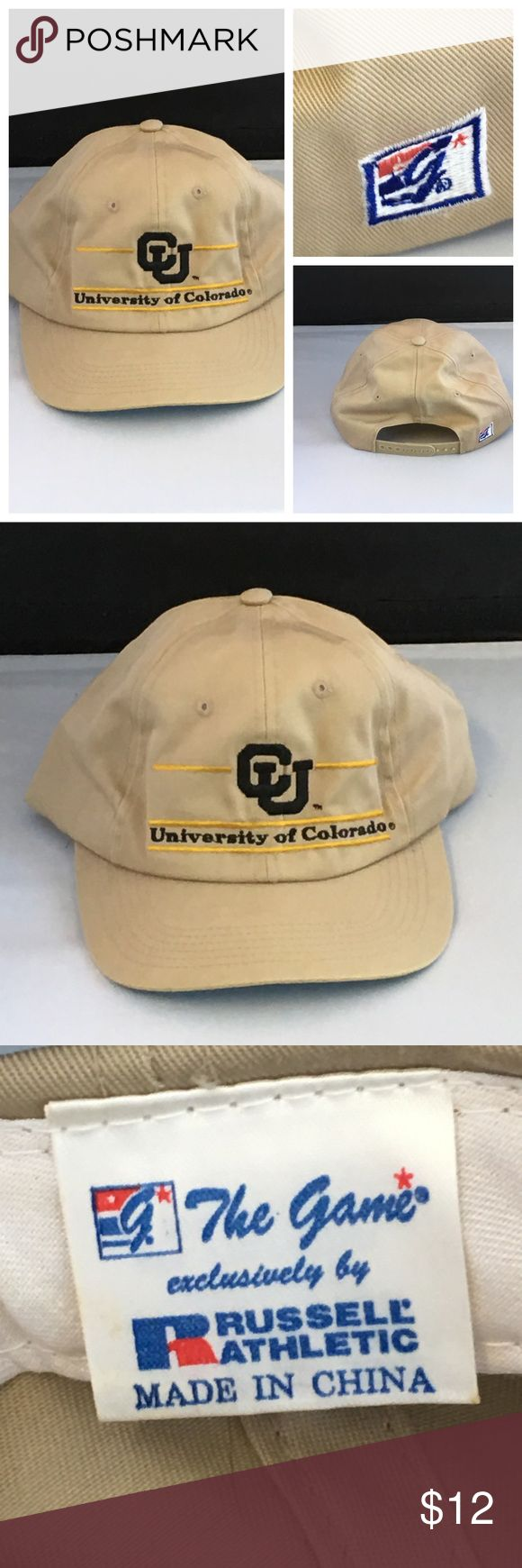 Colorado Vintage SnapBack The Game Cap NWOT University Of Colorado Vintage SnapBack The Game Cap.   Kaki Color   The Game Accessories Hats