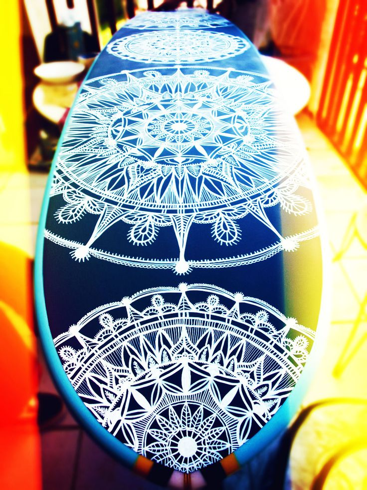 Surfboard Henna Design