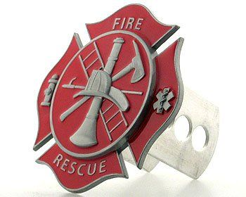 Hitch Cover- Fire Fighter's Cross - Trailer Hitch Cover