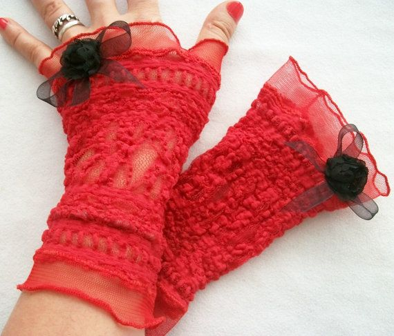 Check out this item in my Etsy shop https://www.etsy.com/listing/244927457/red-lace-gloves-red-mittens-sexy-lace