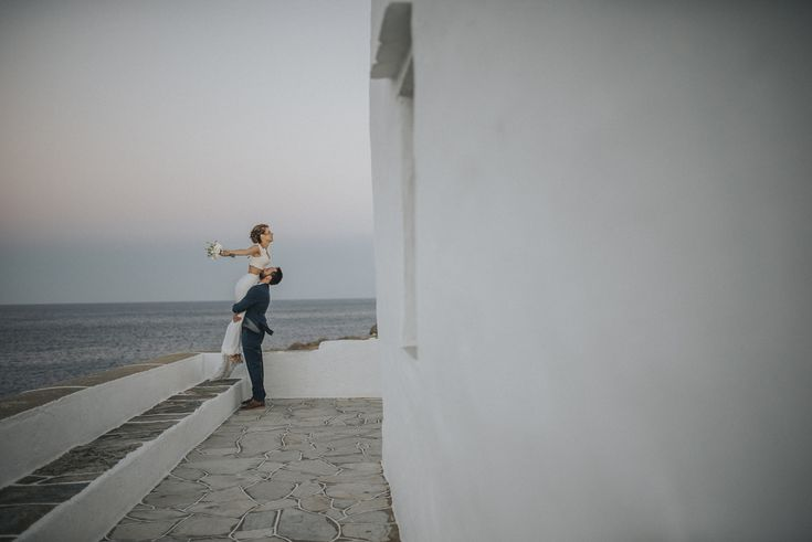 lafete, Sifnos, sea, blue, white, married couple