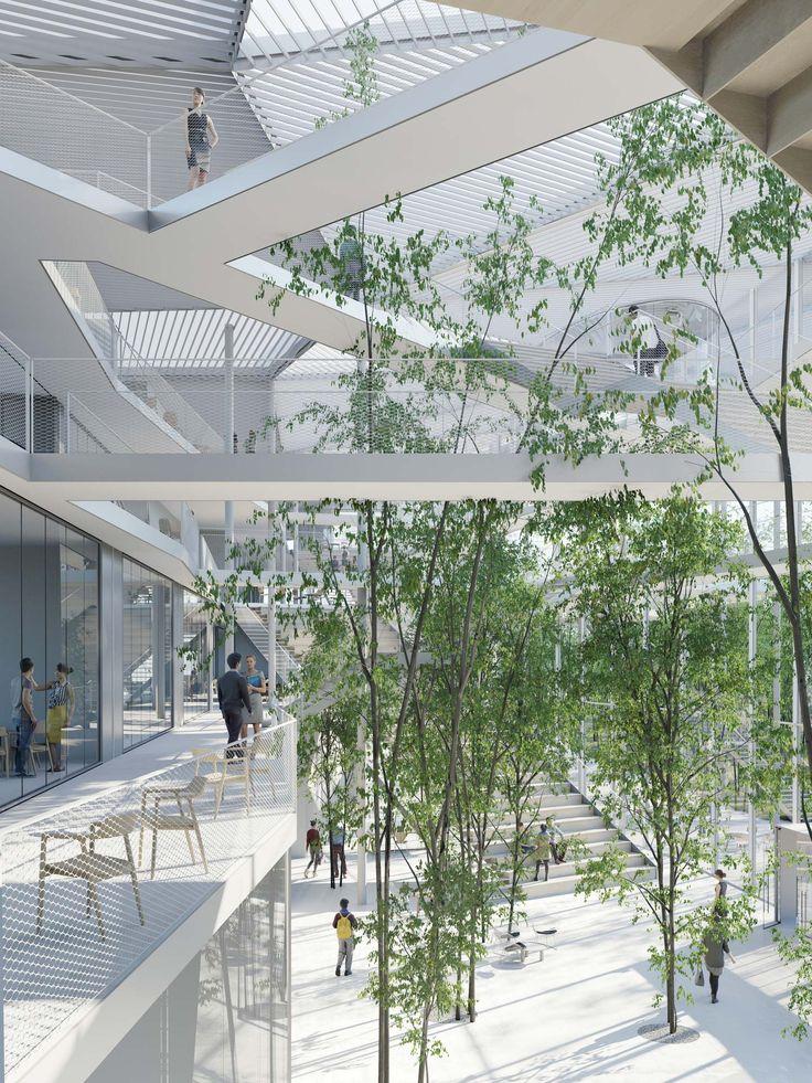 Gewinner: © SOU FUJIMOTO architects, Manal Rachdi OXO architecte et Nicolas Laisné Associés architectes RENDERING BY RSI-STUDIO