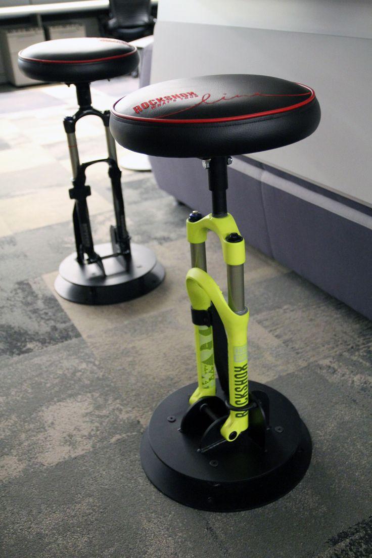 Incredible Suspension bar stools #cycling