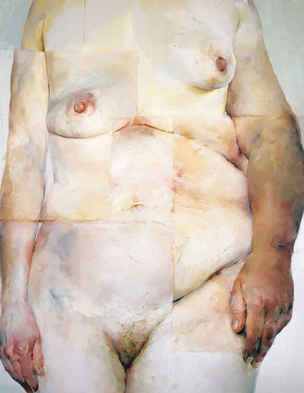 Jenny Saville, Hybrid, 1997. Paint that feels so much like flesh...