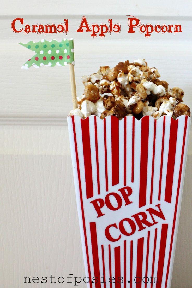 Caramel Apple Popcorn via @Kellie Dyne~Nest of Posies