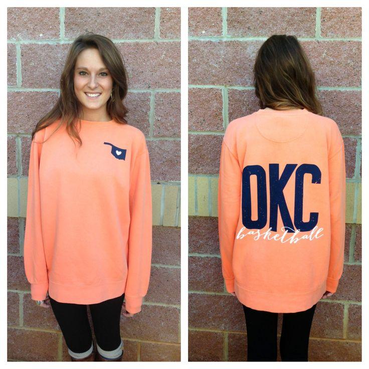 OKC basketball comfort colors sweatshirt #cute oklahoma city thunder apparel #OKC basketball comfort colors sweatshirt