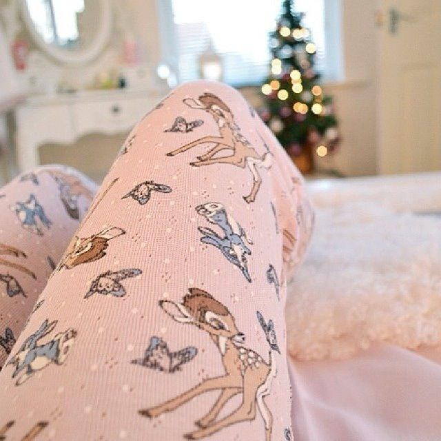 Bambi, pastel pink and christmas put together is like... The best thing ever