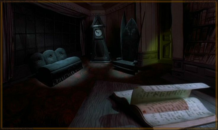 The nightmare before christmas - room . wavy wood texture ...