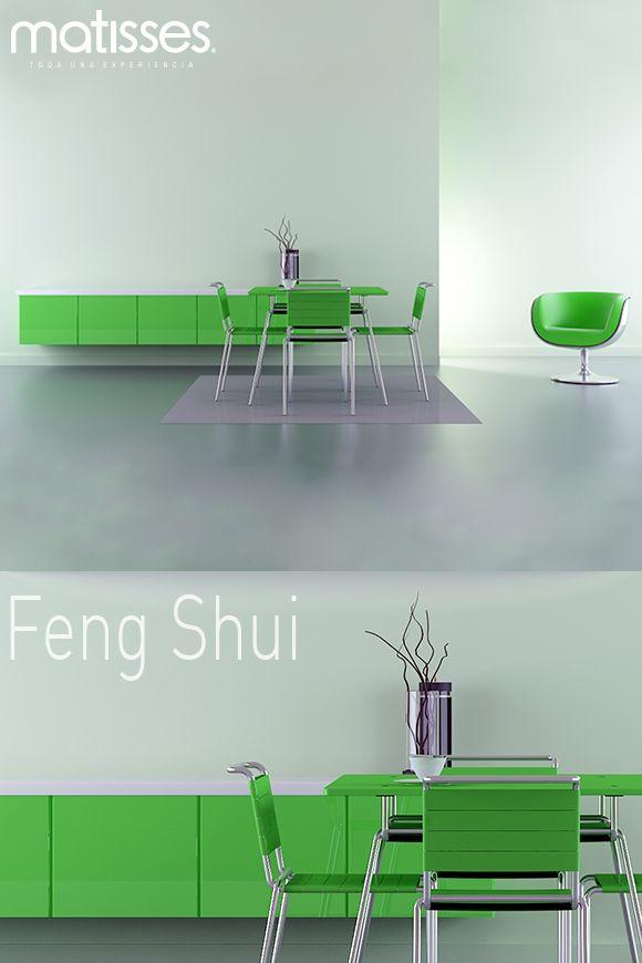 El Feng Shui recomienda usar el color verde en la decoración del comedor ya sea en las paredes o en el menaje; éste simboliza compañerismo y es ideal para aquellas personas que disfrutan compartir momentos con los amigos.