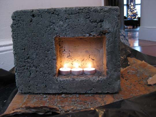 Mini Fireplace Concrete Test - Hypertufa Forum - GardenWeb