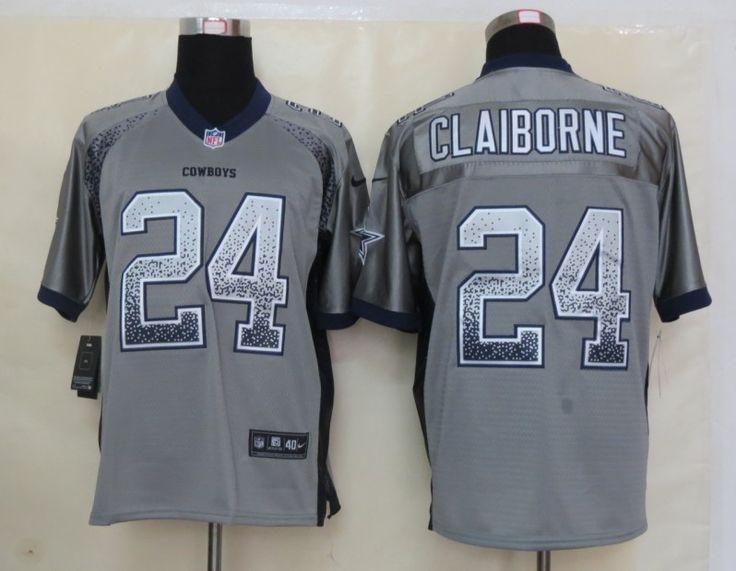 1551d41cf ... Womens Tony Romo Gray Jersey NFL Nike Dallas Cowboys 9 Gridiron  personalized Mens NFL Dallas Cowboys 24 Claiborne Drift Fashion Grey Jersey  ...