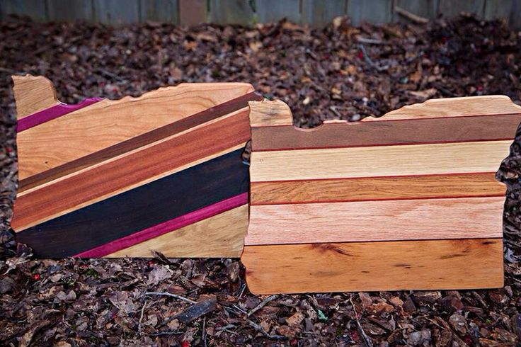 Designer cutting boards made from reclaimed wood by Brian Dunn, owner of www.closedloopwoodworks.com