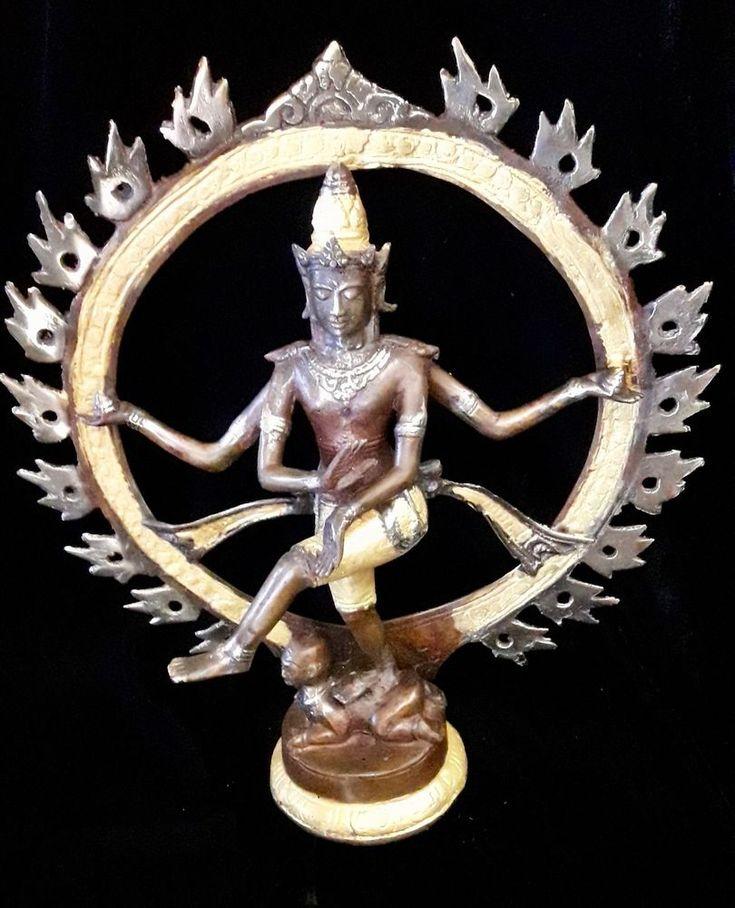 Shiva Nataraja God Bronze Brass Statue Meditation Yoga Art Lord Of Dance Creator