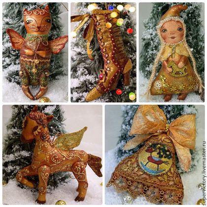 Елочные игрушки - золотой,лошадка,игрушка на елку,елочная игрушка,новогодний подарок