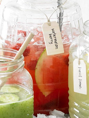The sweet flavors of watermelon and strawberries combined with the tart lemon juice makes this refreshing drink a summertime must when entertaining guests.
