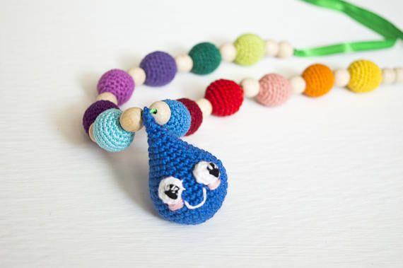 Rainbow color Breastfeeding Necklace /Nursing Necklace