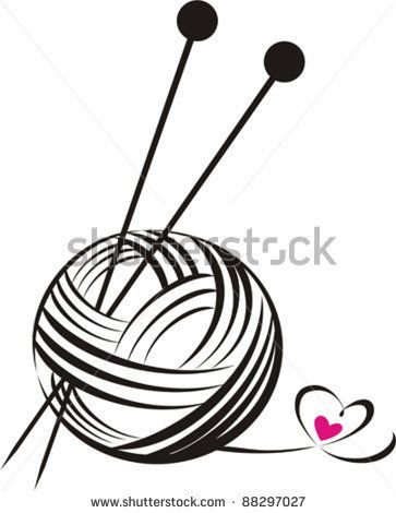 yarn ball with needles isolated on White background. Vector illustration by Kalenik Hanna, via ShutterStock