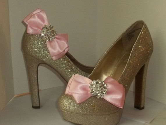 Shoe Clips   Satin Bows  MANY COLORS AVAILABLE by ShoeClipsOnly, $32.00