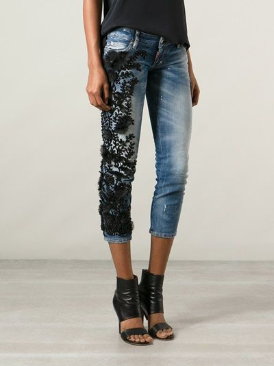 DSQUARED2 - bead embroidered jean 8