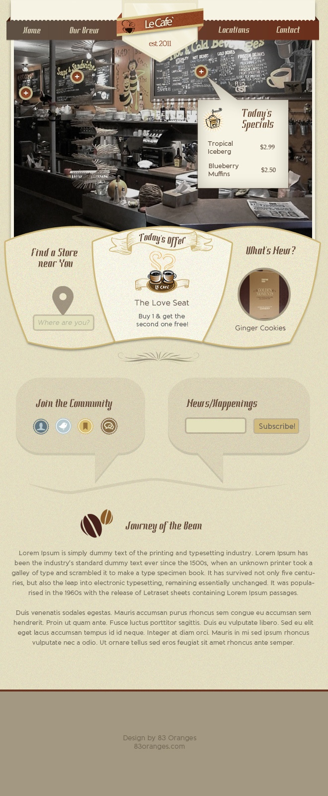 8195 template - Coffee Shop Homepage Webdesign Template 5