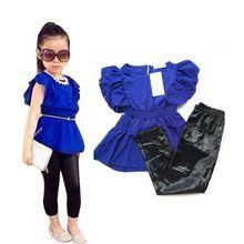 NEW Free Shipping  Baby Girls Clothing Sets Summer female models sweet shirt…