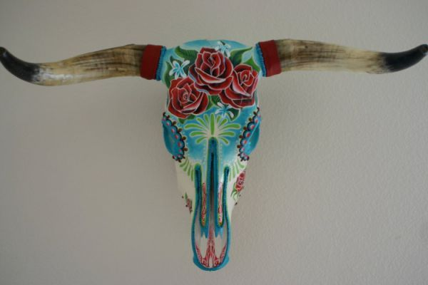 Painted Cow Skull Designs Related