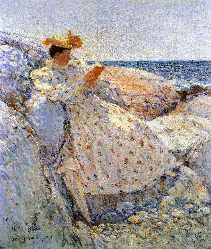 Summer Sunlight (1892). Frederick Childe Hassam (American, Impressionism, 1859-1935). Oil on canvas. Israel Museum.